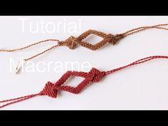 pulsera macrame con rombos | friendship bracelet - YouTube