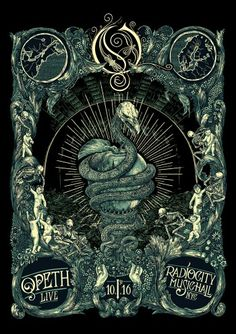Opeth tour poster for their NY show later this year