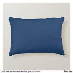 Dark denim blue solid color accent pillow Navy Blue Cushions, Navy Blue Throw Pillows, Soft Pillows, Accent Pillows, Navy Blue Bedrooms, Blue Living Room Decor, Blue Home Decor, Coastal Decor, Dark Denim