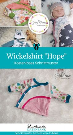 Wickelshirt Babys nähen gratis Schnittmuster kostenlos Freebie Freebook Shirt K. Sewing Machine Projects, Sewing Projects For Beginners, Sewing Tutorials, Sewing Tips, Dress Tutorials, Sewing Hacks, Poncho Crochet, Crochet Blanket Patterns, Skirt Patterns