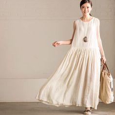 Loose big hem dresses causal dress