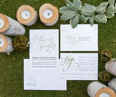 #WishtreeInvites WHITE by Wishtree | Elegant | Typography | Wedding Invitations | Wedding Suite | Custom Couture Invitations & Stationery | Laura Kelly Photography | www.wishtreeinvites.com