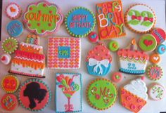 22nd Girly Birthday Cookies - HayleyCakes And Cookies
