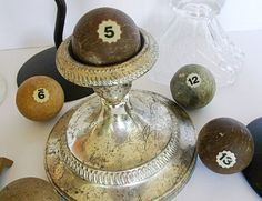 Antique Billiard Balls Clay Chose One by CrowsCottage on Etsy