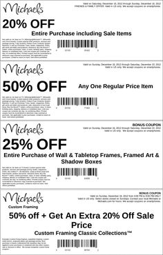 50 off a single item and more at michaels coupon via the coupons app