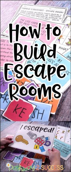 How you can build escape rooms as learning activities for kids and young adults!… How you can build escape rooms as learning activities for kids and young adults! Did you know you can really teach ANY skills with an escape… Continue Reading → Escape Room For Kids, Escape Room Puzzles, Escape Space, Escape Room Diy, Escape Puzzle, Kids Learning Activities, Student Learning, Team Building Activities For Adults, Science Activities