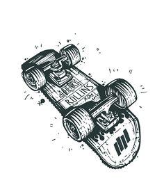 SKATEBOARDS on Behance Tatoo Skate, Skateboard Tattoo, Skateboard Art, Illustrations, Illustration Art, Skate Art, Skate Style, Grafik Design, Skateboards