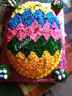Needs pastel colors Cake Cookies, Cupcake Cakes, Cupcake Ideas, Cupcakes, Easter Egg Cake, Easter Food, Easter Deserts, Easter Recipes, Easter Ideas