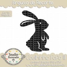 Coelhinho Fofo III, coelhinho, fofo, coelho, animal, páscoa, fofinho, cute, sweet, little, bunny, rabbit, cute bunny, bunny ears, baby, arquivo de recorte, corte regular, regular cut, svg, dxf, png, Studio Ilustrado, Silhouette, cutting file, cutting, cricut, scan n cut.