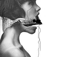 Jesse Draxler Collages, Collage Art, Creative Photography, Art Photography, Art Is Dead, Faceless Portrait, Sensory Art, A Level Art, Photomontage