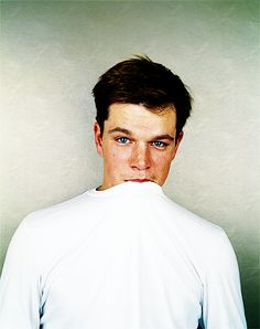 hello matt damon  Ok usually, just no. But this picture is so uber-adorable.