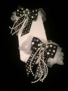 #WhiteandBlack #Crystal #PolkaDot #Pearl #Fishnet #ThighHighStockings. #Burlesque #Halloween #HalloweenCostume #EmpireMiniTopHats #Stockings