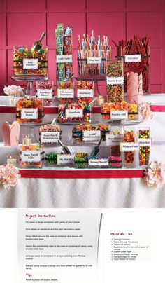 Jenny wants a Candy Bar.what is this? Jenny wants a Candy Bar.what is this? Wedding Candy Table, Sweet Table Wedding, Candy Bar Party, Wedding Desserts, Candy Bar For Wedding, Wedding Ideas, Candy For Candy Bar, Lolly Buffet Wedding, Filled Candy