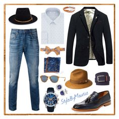 """""""Modern Business Casual"""" by mauricee-brewer on Polyvore featuring Antonio Maurizi, Allurez, Calvin Klein, Brooks Brothers, Banana Republic, Levi's, Persol, Bailey of Hollywood, The Men's Store and Nick Fouquet"""