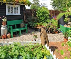 small garden design with vegetables