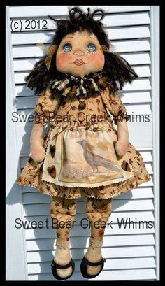 Primitive doll E Pattern cloth doll sewing pattern Abby 712 OFG Team Doll Sewing Patterns, Doll Clothes Patterns, Clothing Patterns, Primitive Patterns, Raggedy Ann, Pattern Design, Dolls, Ann Doll, Wakefield