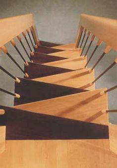 Modern interior design with spiral stairs contemporary - Escaleras espacios reducidos ...