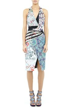 Nicole Miller Bree Mixed Print Dress on shopstyle.com