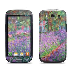 Samsung Galaxy S3 Phone Case Cover Decal - Monet The Artist's Garden at Giverny - Galaxy S4 Case Cover Decal