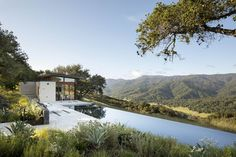 Santa Lucia Preserve, Limestone Wall, Living Roofs, Carmel Valley, Redwood Forest, Tree Canopy, Country Landscaping, Valley View