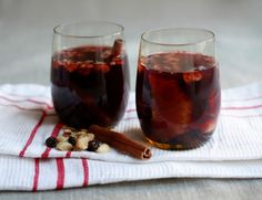 Glogg, similar to Mulled wine but with nuts and raisins.