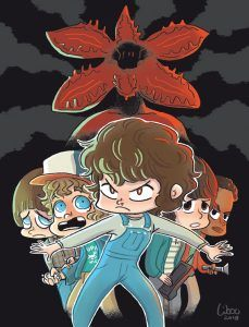 Stranger Things fanart with Demogorgon / by Libou