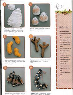magdalenabueno manualidades de todo: revista de alejandra sandes navidad (de lili) Christmas Crafts, Xmas, Country, Gingerbread Cookies, Coasters, Lily, Album, Sewing, Hand Crafts