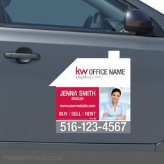 Keller Wiliams real estate house shaped car magnets - - set of TWO magnets Office Names, Porsche Boxster, Car Magnets, Keller Williams, Real Estate Houses, Marketing Ideas, Real Estate Marketing, Web Design, Shapes