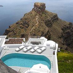 Grace Santorini - Greece Honeymoon Packages - villa terrace