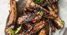 The marinade in this pork meal is a classic Vietnamese recipe and is perfect for tender succulent ribs. Dig in before it disappears!