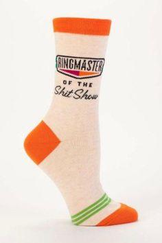 Ringmaster of the Shit Show Socks. Fits Shoe sizes 5-10.  Ringmaster Socks by Blue Q. Accessories - Socks South Dakota