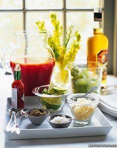 Martha Stewart's Bloody Mary Bar - perfect for Brunch!