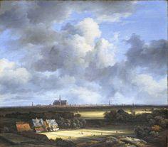 Jacob van Ruisdael, Gezicht op Haarlem met bleekvelden.