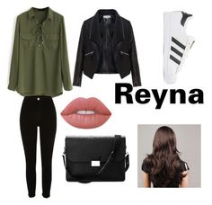 """""""Reyna goes to school  # PJ #Reyna"""" by creativangel on Polyvore featuring Mode, Zizzi, River Island, adidas Originals, Aspinal of London und Lime Crime"""