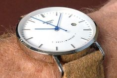 Silver & White (blue Hands) With Tan Strap - Rossling & Co - Google Search