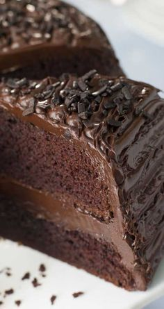 Old Fashioned Chocolate Buttermilk Cake ~ An old-fashioned chocolate cake so moist your guests will think it came from a bakery!