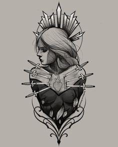 Tatto Ink, Body Art Tattoos, Tattoo Drawings, Tatoos, Traditional Tattoo Sketches, Girl Face Drawing, Dark Tattoo, Tattoo Flash Art, Desenho Tattoo