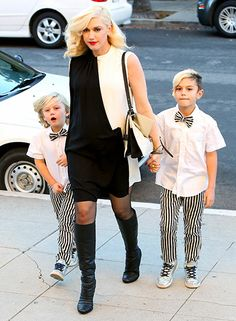 Pregnant Gwen Stefani and her boys Zuma and Kingston