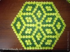 Мастер-класс Плетение Плетеная салфетка на деревянной рамке Нитки фото 1