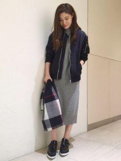 定番アイテム☆MA-1コーデのおしゃれなファッションスタイルの参考まとめ☆