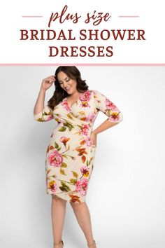 Looking for a plus size bridal shower dress? If you want to look bridal, you can choose a plus size white dress. See plus size wrap dresses, cocktail length dresses and maxi dresses in white, floral patterns or solid colors that are perfect outfits for a plus size bride. Spring, summer, fall or winter bridal shower or wedding shower dresses. Early Spring Wedding, Spring Wedding Colors, Wrap Dresses, Maxi Dresses, Spring Wedding Centerpieces, Cocktail Length Dress, Winter Bridal Showers, Curvy Bride, Wedding Shower Gifts
