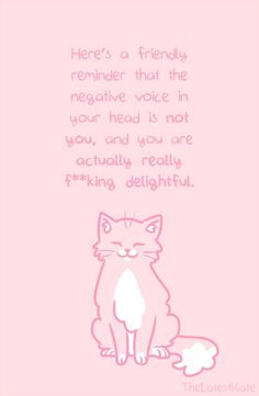 Uplifting Words Of Encouragement Through Animal Illustrations - World's largest collection of cat memes and other animals Inspirational Animal Quotes, Cute Animal Quotes, Motivational Quotes, Inspiring Quotes, Happy Thoughts, Positive Thoughts, Positive Quotes, Motivation Positive, Body Positive