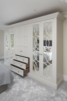 Whether you're after a sleek design or intricate mirrored detailing, discover The Heritage Wardrobe Company's bespoke wardrobes.