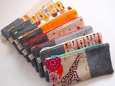 pencil pouches by Spotted Stone Studio {Krista}, via Flickr