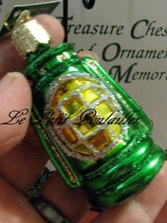 Merck Family Old World Christmas 'Green Lantern' Discontinued Mouth Blown Glass Ornament ... in my Meylah shop now!