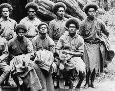 """""""Fijian soldiers en route to Europe pass through and visit the Big Tree, Solomon Islands People, Fiji People, Fiji Culture, Big Tree, Historical Pictures, Guys And Girls, Wwi, Soldiers"""