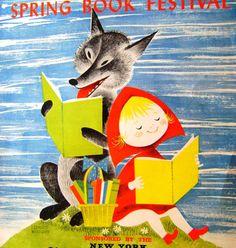 Vintage Children's Spring Book Festival Promo by CrookedHouseBooks, $150.00