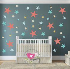 Enchanted Interiors Premium Self Adhesive Fabric Nursery Wall Art - Nursery wall decals gender neutral