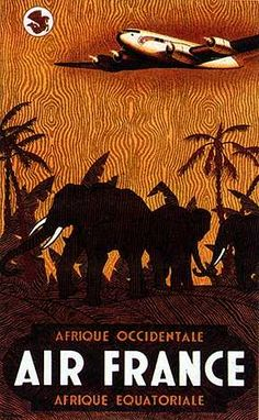 Air France to Africa - Occidentale / Equatoriale http://www.enjoyart.com/library/travel_tourism/africa/large/air_france.jpg