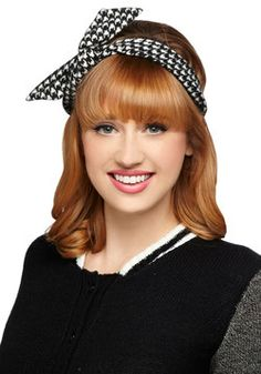 Through the Wire Headband in Houndstooth, #ModCloth